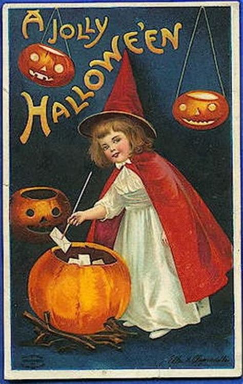 printable halloween vintage postcards free clip art from vintage holiday crafts 187 halloween