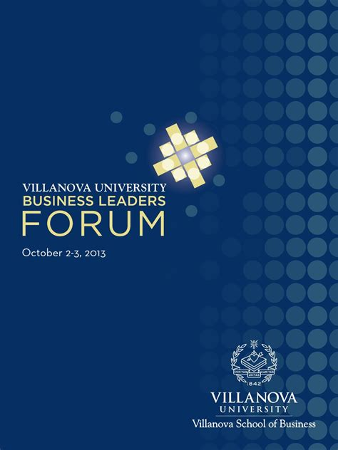 Villanova Mba Analytics by Villanova School Of Business 2013 Blf Program By Moire