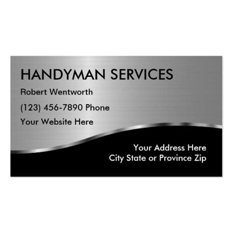 handyman business card template simple handyman business cards