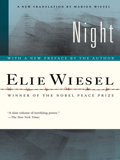 night by elie wiesel night by elie wiesel marion wiesel elie wiesel ebook booksamillion com ebooks