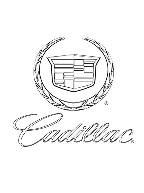 Coloring pages: Coloring pages: Cadillac - logo, printable