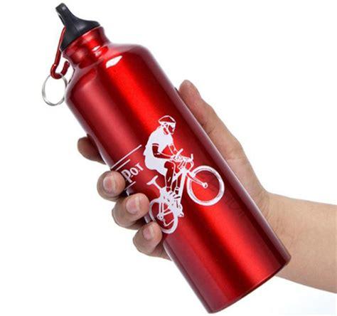 Botol Air Minum Untuk Olahraga botol minum olahraga aluminium 750ml dengan karabiner