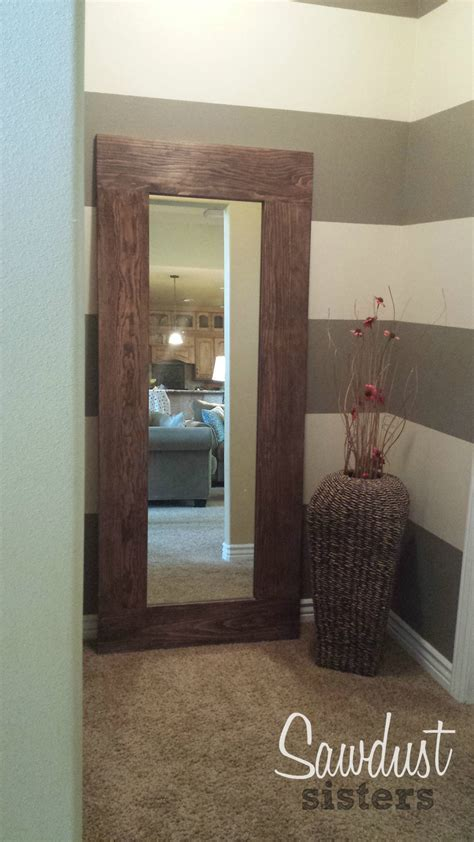 DIY Floor Length Mirror Frame Tutorial   Sawdust Sisters