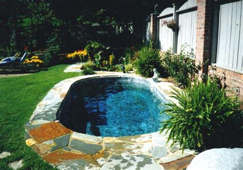 Small Backyard Inground Pools astonishing small inground pools to complete your backyards home a holic