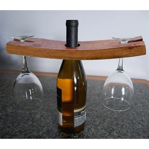 Handmade Wine - handmade wooden wine glass bottle holder
