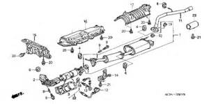 Honda Element Exhaust System Diagram Honda Store 2003 Element Exhaust Pipe Muffler Parts