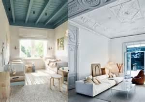 peindre un plafond en couleur joli place