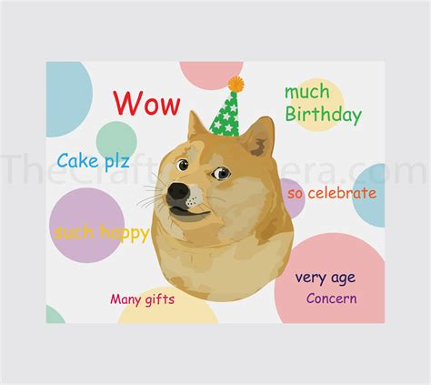 Meme Birthday Card - doge printable birthday card by thecraftychimera on deviantart