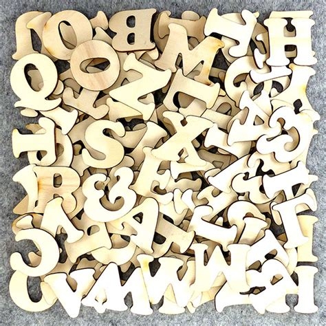 Letter Infinite Letter Packs 100 Mixed Characters Cooper Black 3mm Wooden Ply