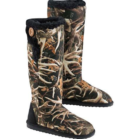 camo boot slippers legendary whitetails muk luk camo boot ebay