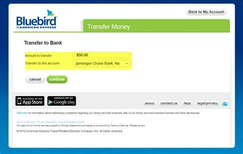 Transfer American Express Gift Card To Bank Account - american express bluebird million mile secrets
