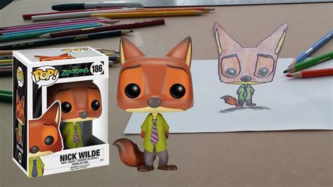 Funko Pop Disney Zootopia Nick Wilde zootopia nick wilde 3d drawing funko pop disney 186 vinyl