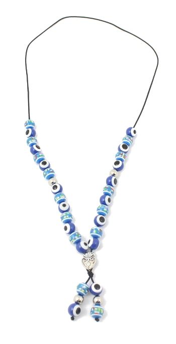 evil eye bead necklace worry bead necklace evil eye blue 1 pc