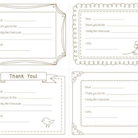 Thank You Letter Paper Template Printable Thank You Note Free Printable Tip Junkie