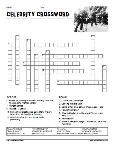 easy crossword puzzles celebrity celebrity crossword puzzle free printable