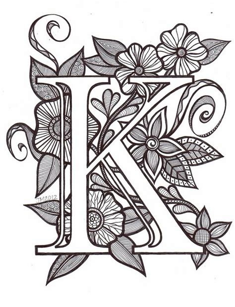 Letter T Coloring Pages For Adults by 25 Best Ideas About Letter K On K