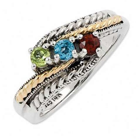 Zales S Day Rings S Simulated Birthstone Ring In Sterling Silver And