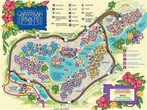 caribbean resort map disney caribbean resort map