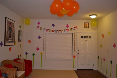 simple birthday decorations at home simple decoration ideas for birthday party at home image