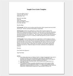 cover letter outline cover letter outline template 7 sles exles formats