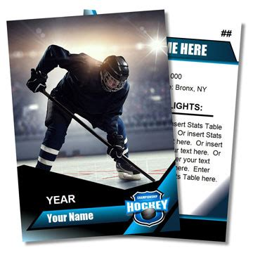 Vintage Hockey Card Template by Trading Card Templates