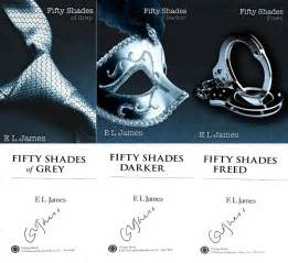 e l signed fifty shades of grey darker freed 3 vol