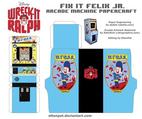 fix it felix jr apk pac arcade machine paper crafts