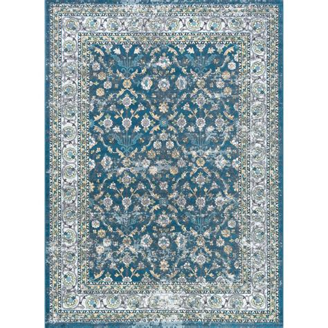 area rugs home depot 5x8 tayse rugs milan navy 5 ft 3 in x 7 ft 3 in area rug mln4307 5x8 the home depot