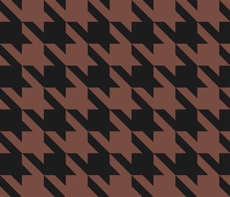 Large Scale Houndstooth Upholstery Fabric by Large Scale Houndstooth In Black And Brown Fabric