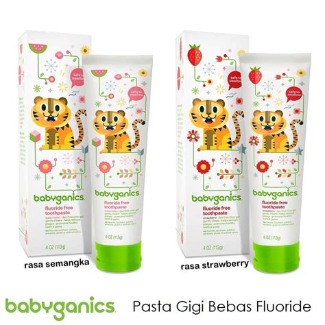 Pasta Gigi Anak Bayi Children Baby Toothpaste babyganics fluoride free toothpaste pasta gigi anak bebas
