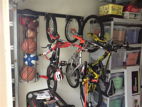 Garage Storage For Balls Bike Storage For Garage Rubbermaid Fasttrack