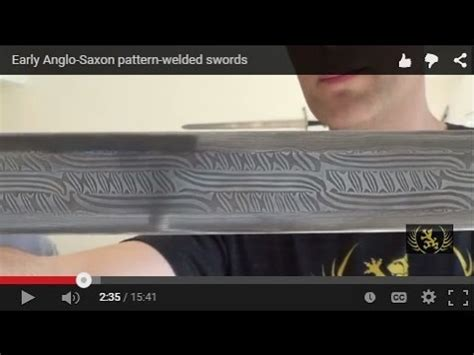 saxon pattern welding early anglo saxon pattern welded swords youtube