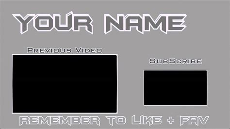 free outro template sony vegas sony vegas 11 outro template simple grey