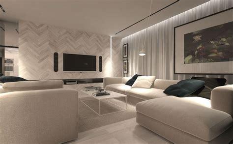 nowoczesny salon projekt nowoczesnego salonu w bieli architektura