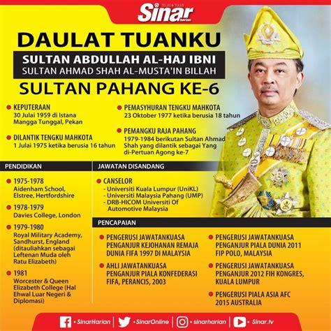 biodata tengku abdullah sultan pahang   berita viral