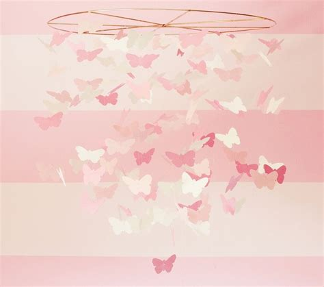How To Make Paper Butterfly Mobile - pink paper butterfly mobile traditional baby mobiles