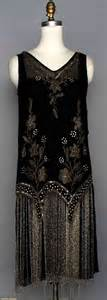 Beaded flapper dress 1920s black silk w crystal beads amp long beaded