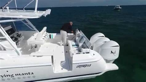 intrepid 40 cuddy custom dive boat youtube - Center Console Dive Boats