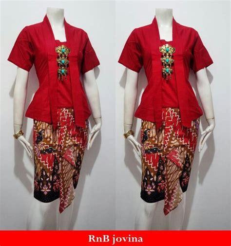 Rok Dan Blouse Jovina Parang rok dan blus encim jovina allsize bahan batik katun motif