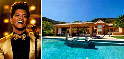 bruno mars house homes of stars that still do not have 30 years every day inbox