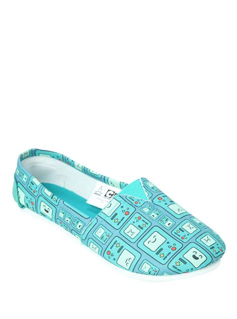 adventure time bmo slip on shoes topic