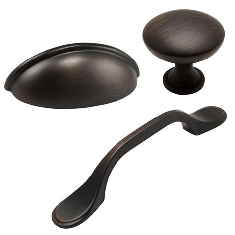 cosmas rubbed bronze cabinet hardware pulls knobs