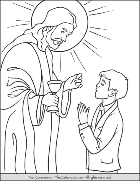 Holy Communion Printable Coloring Pages by The Catholic Kid Catholic Coloring Pages And For
