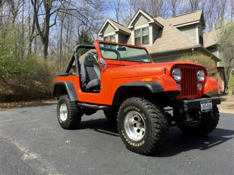 orange jeep cj 1984 jeep cj 7 burnt orange garaged babied and loved
