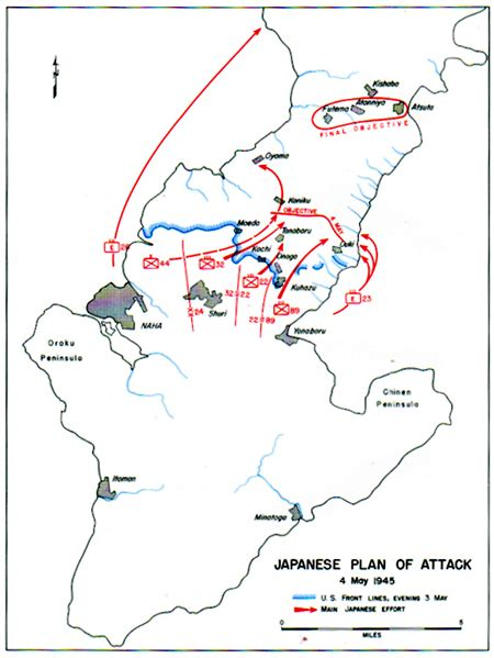 Japanese Table Map Xxxii Japanese Plan Of Attack 4 May 1945