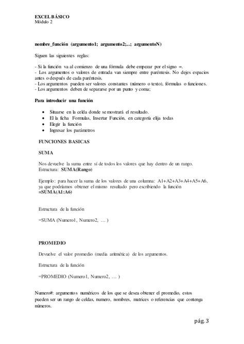 Excel Basico - Formulas
