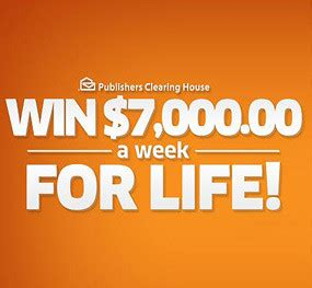 Publishers Clearing House Search Engine - pch 7 000 a week for life sweepstakes