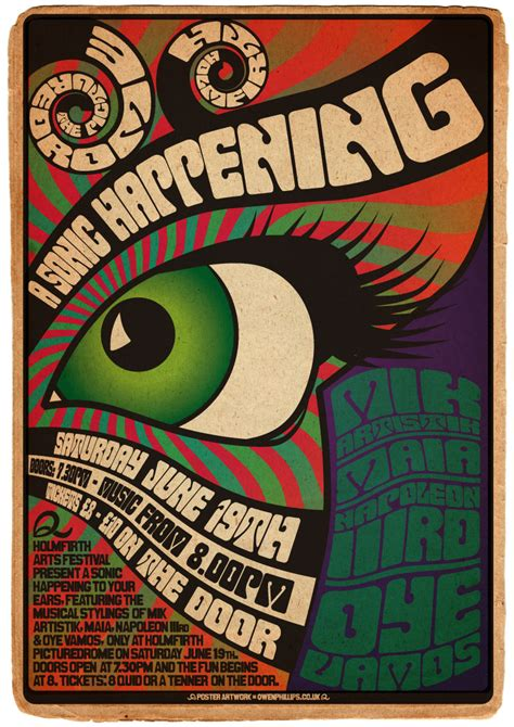 1960 s graphic design the sonic happening poster owen phillips creative design