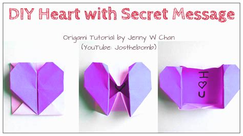 Origami Secret - origami with secret message 187 origamitree
