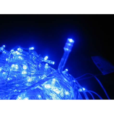 blue led icicle lights